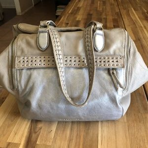 Free People Liebeskind Gray&Silver Leather Bag